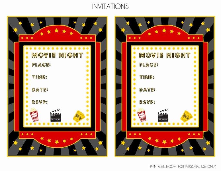 Movie Ticket Invitation Template New Blank Movie Ticket Invitation Template Free Download Aashe
