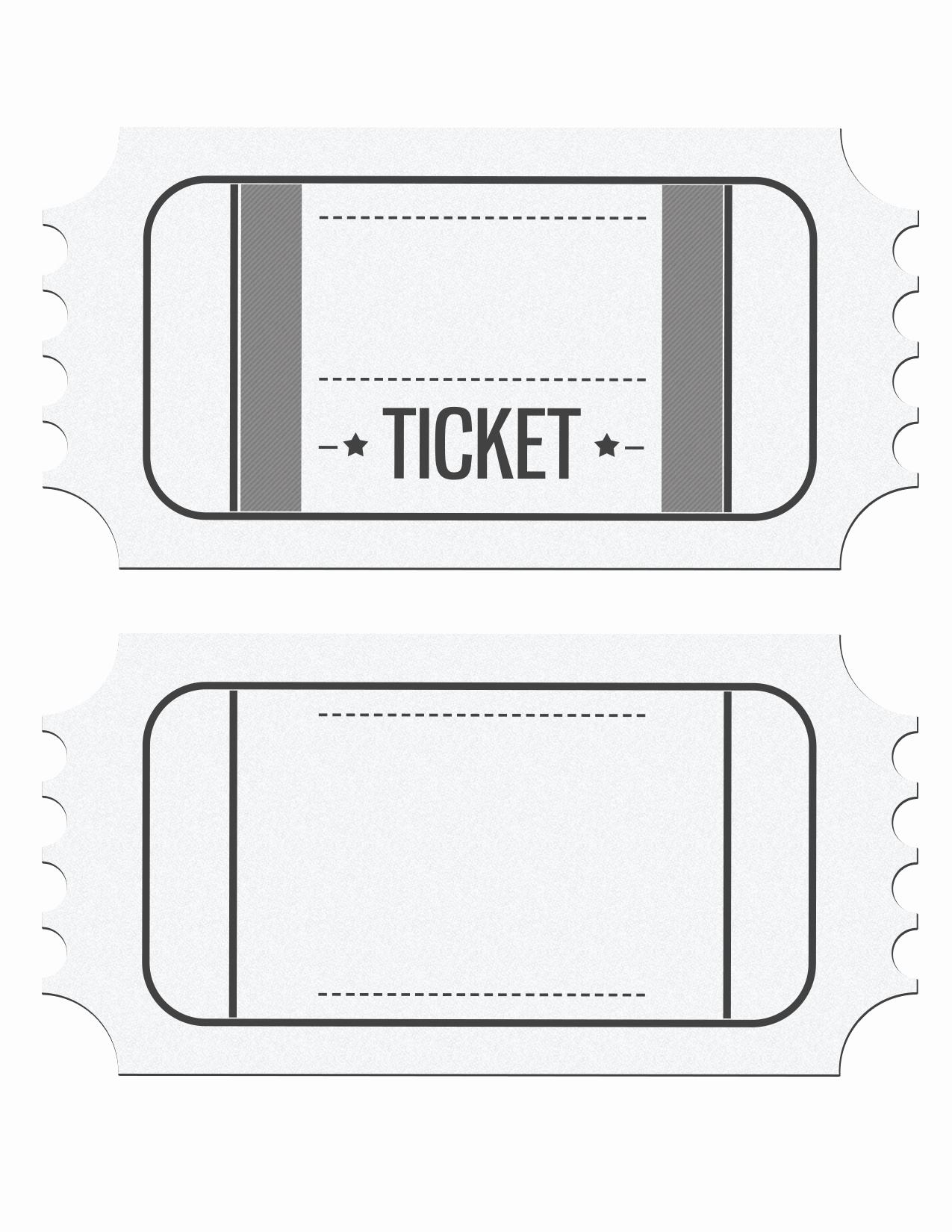 Movie Ticket Invitation Template New Blank Movie Ticket Invitation Template