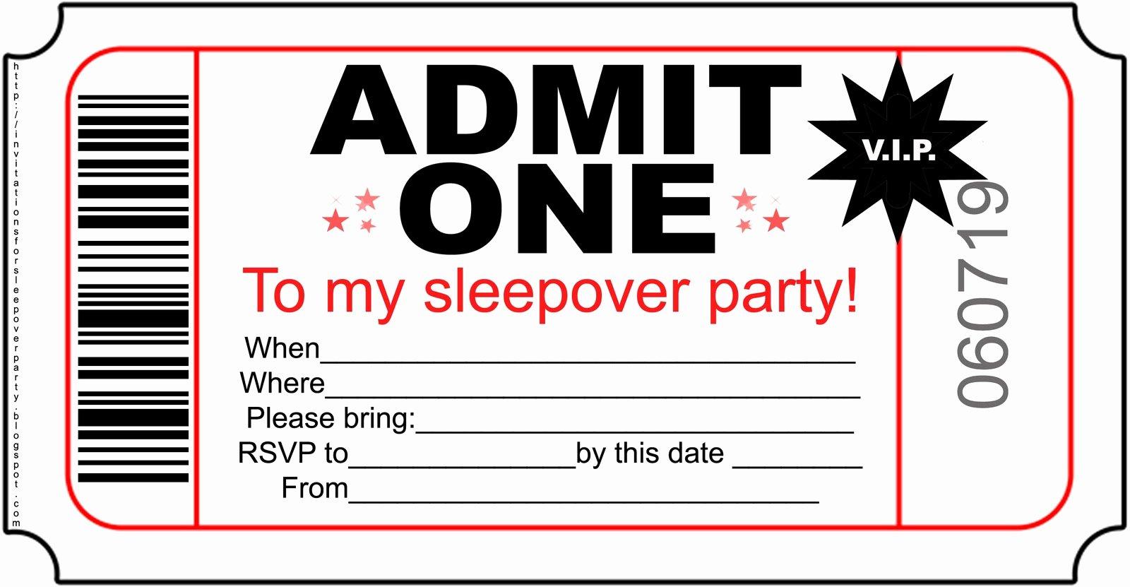 Movie Ticket Invitation Template New Template Inspiration Movie Ticket Invitation Template