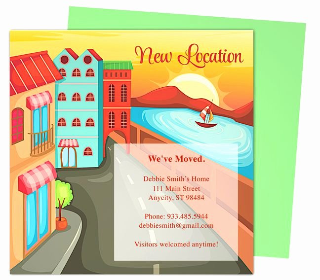 Moving Announcement Template Word Best Of 14 Best Moving Announcements New Address Postcard
