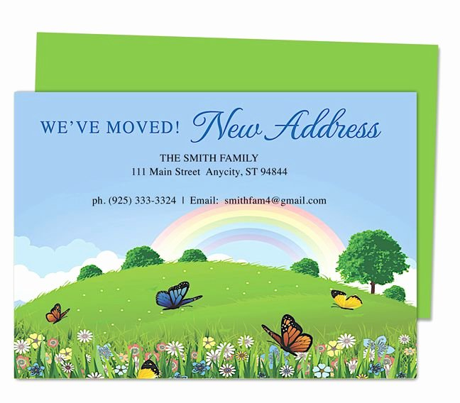 Moving Announcement Template Word Elegant Hillside Moving Announcement Card Templates Just Moved