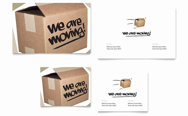 Moving Announcement Template Word Elegant We Re Moving Note Card Template Word & Publisher