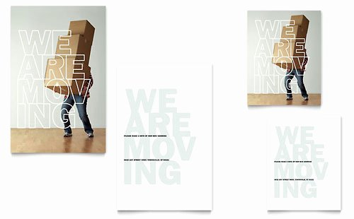 Moving Announcement Template Word Inspirational Fice Moving Note Card Template Design