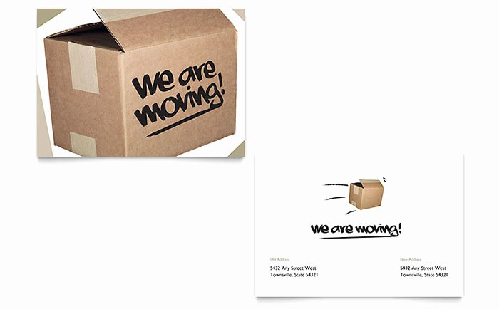 Moving Announcement Template Word Lovely We Re Moving Announcement Template Word & Publisher