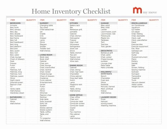 Moving Inventory List Template Best Of Lots Of Helpful Moving Tips Home Inventory Checklist