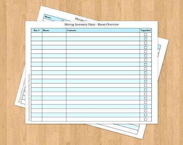 Moving Inventory List Template Lovely Moving Checklist Template 20 Word Excel Pdf Documents