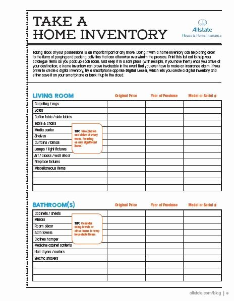 Moving Inventory List Template New Here is A Printable Home Inventory Checklist so You Can