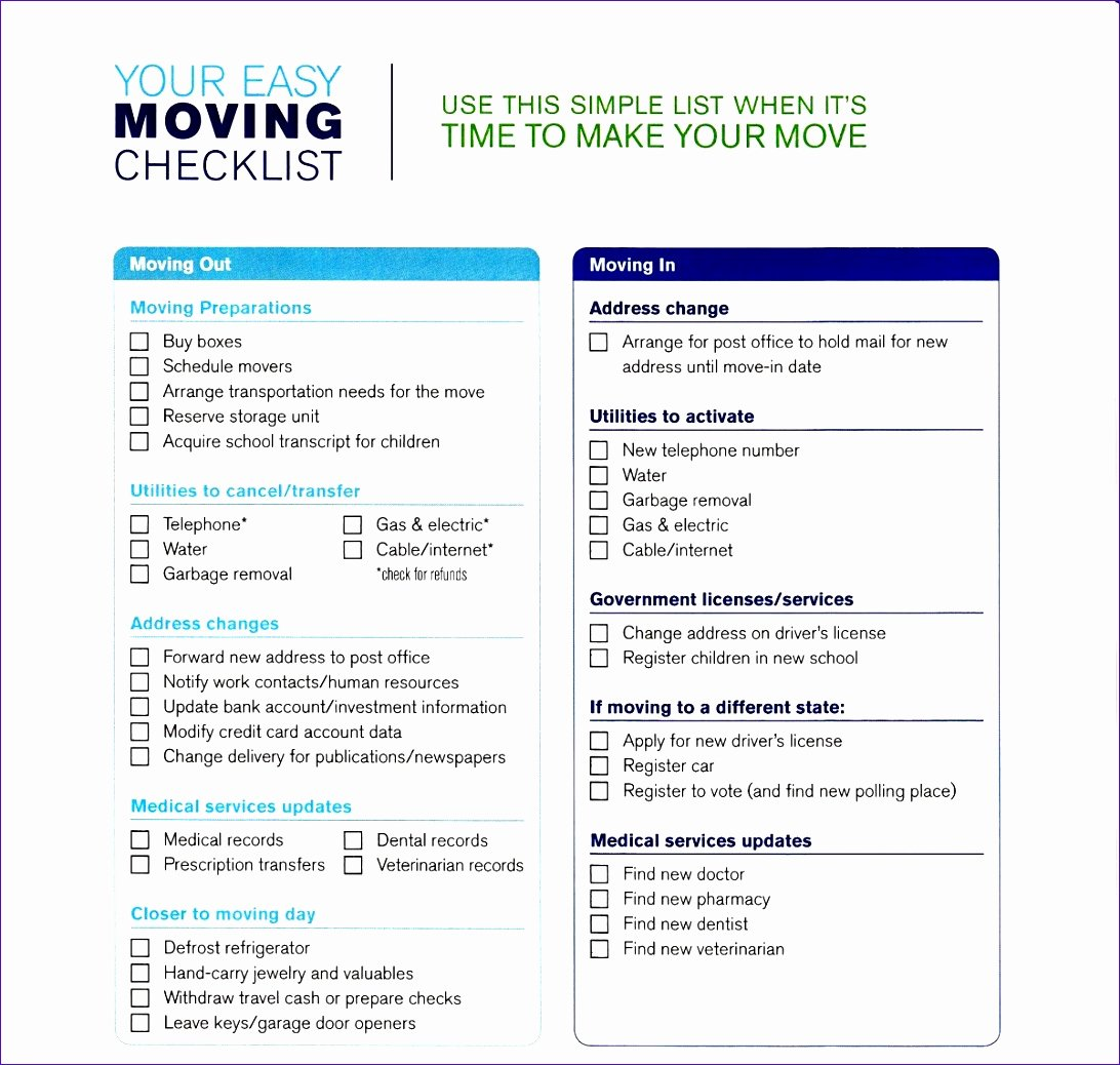 Moving Office Checklist Template Best Of Fice Move Checklist Template Excel Neorx Beautiful 5