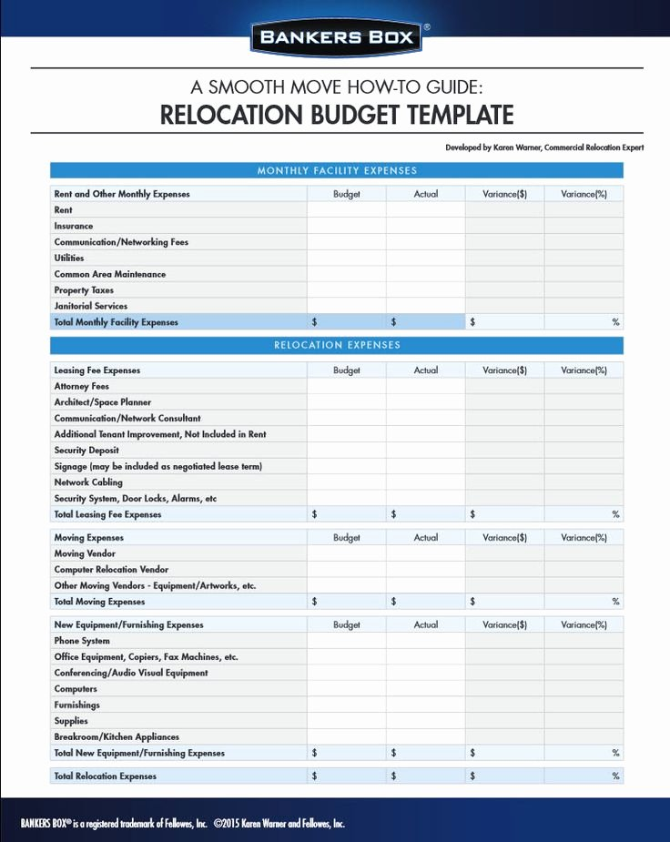 Moving Office Checklist Template Elegant Manage Your Bud for Moving the Office with This