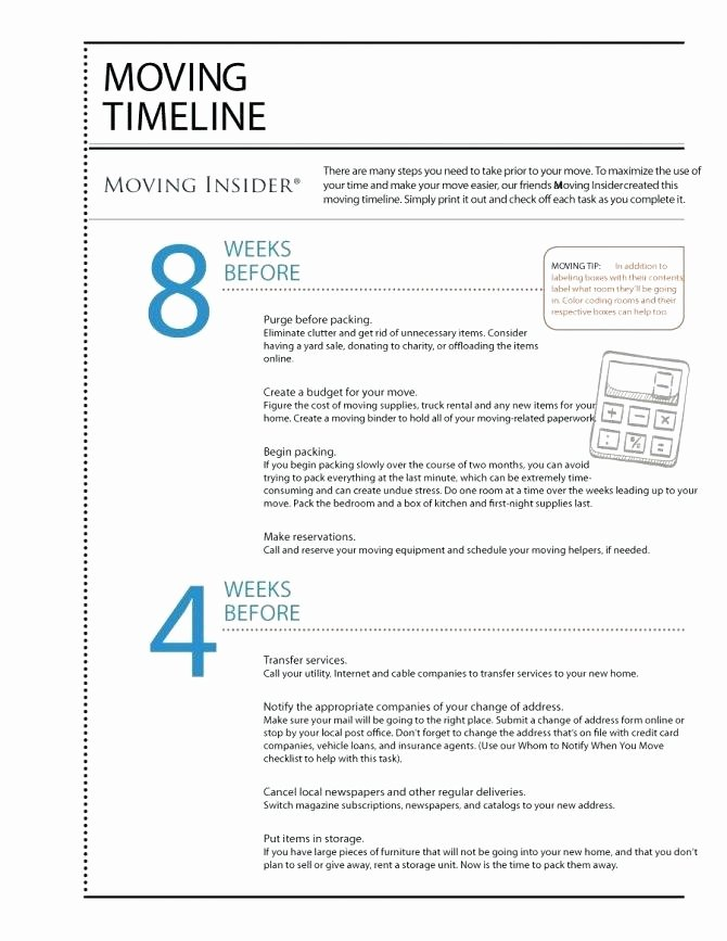 Moving Office Checklist Template Inspirational Moving Timeline Template Medium to Size Fice