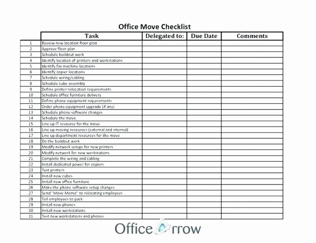 Moving Office Checklist Template Lovely Fice Move Checklist Excel Home Moving Checklist Excel