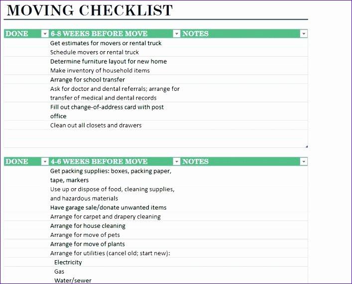 Moving Office Checklist Template Unique Fice Move Checklist Template Excel Igjcq Luxury Sample
