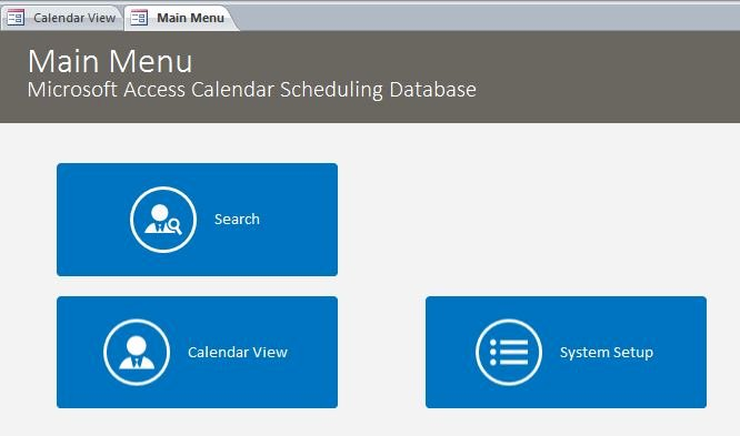 Ms Access Calendar Template Beautiful Microsoft Access Calendar Scheduling Database Template