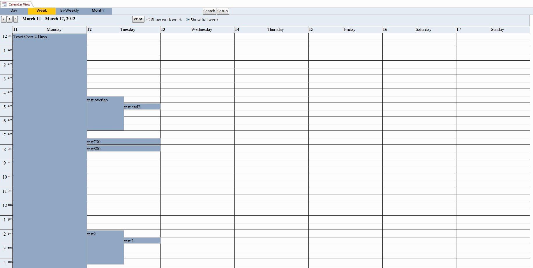 Ms Access Calendar Template Best Of Microsoft Access Schedule Template
