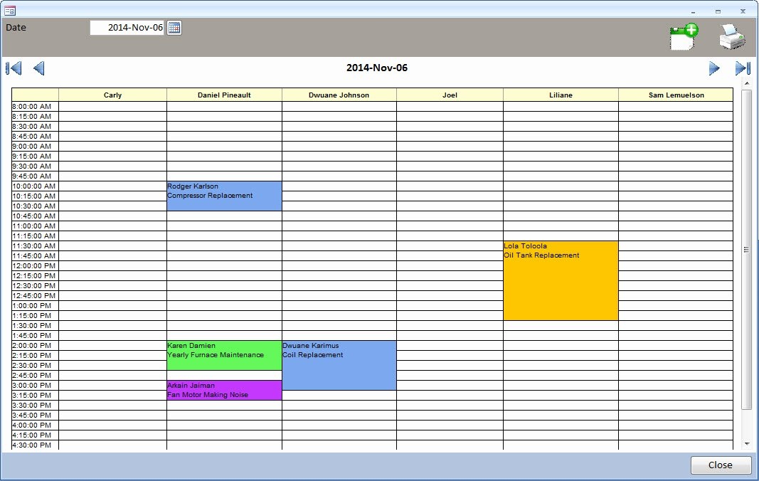 Ms Access Calendar Template Elegant Ms Access Appointment Calendar Daily Planner