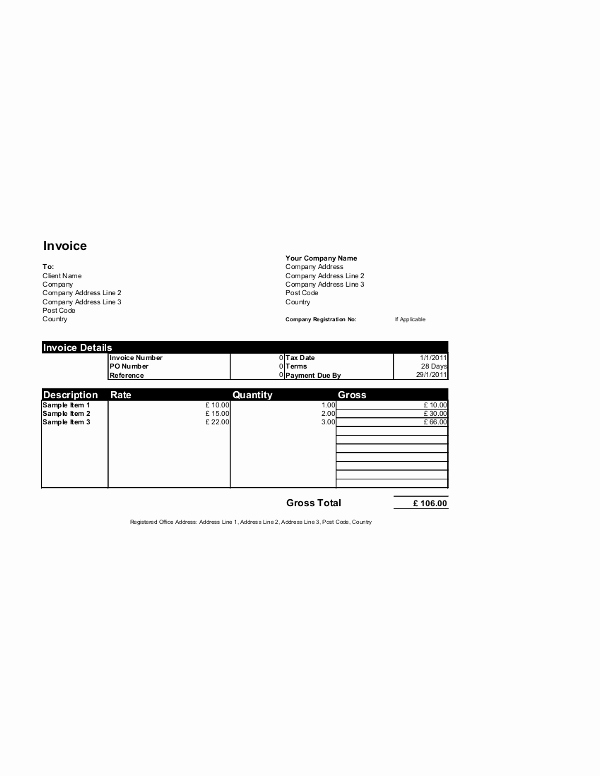 Ms Access Invoice Template Best Of Free Invoice Templates for Word Excel Open Fice