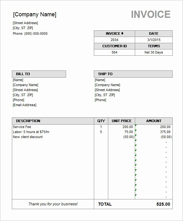 Ms Access Invoice Template Fresh 60 Microsoft Invoice Templates Pdf Doc Excel