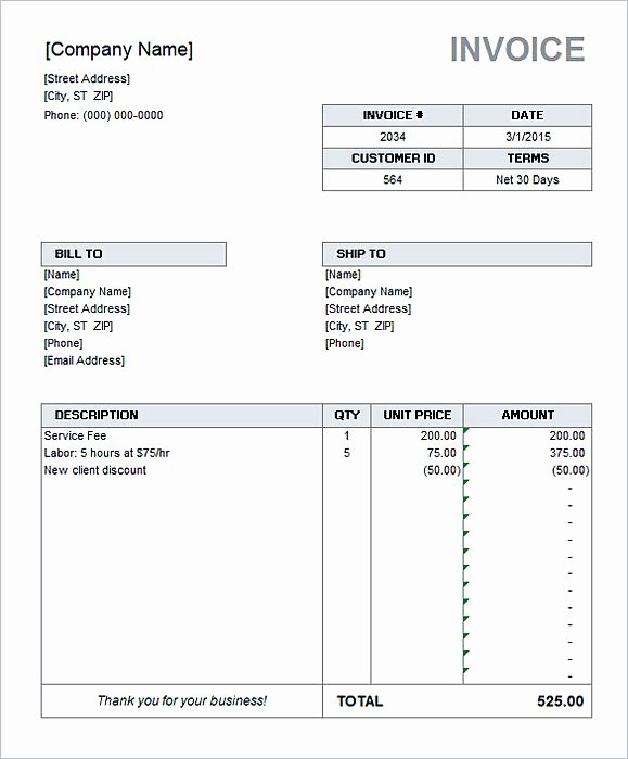 Ms Access Invoice Template Lovely Simple Invoice Template Word
