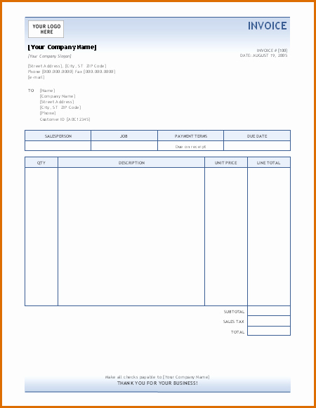 Ms Access Invoice Template New 15 Microsoft Office Invoice Template
