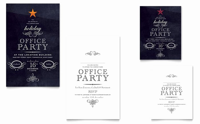 Ms Office Invitation Template Awesome Fice Holiday Party Graphic Design Ideas