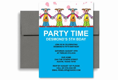 Ms Office Invitation Template Beautiful Circus Clown Party Microsoft Word Birthday