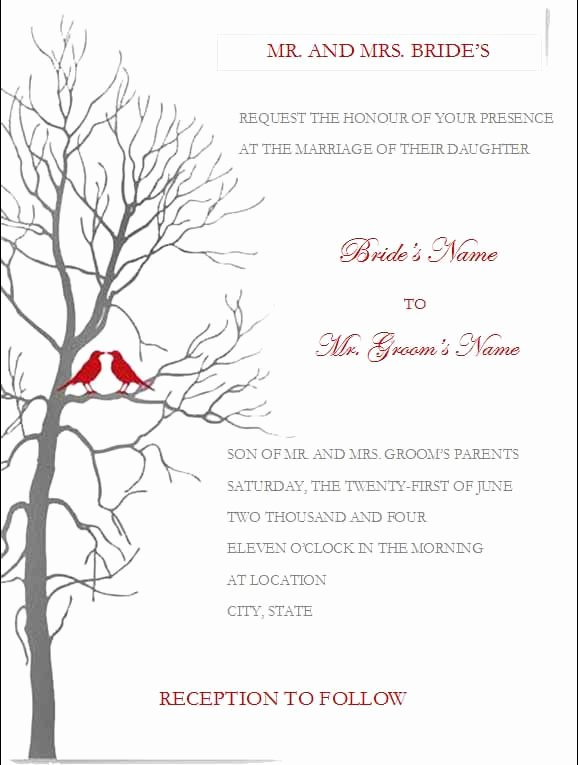 Ms Office Invitation Template Elegant Free Wedding Invitation Templates for Microsoft Word