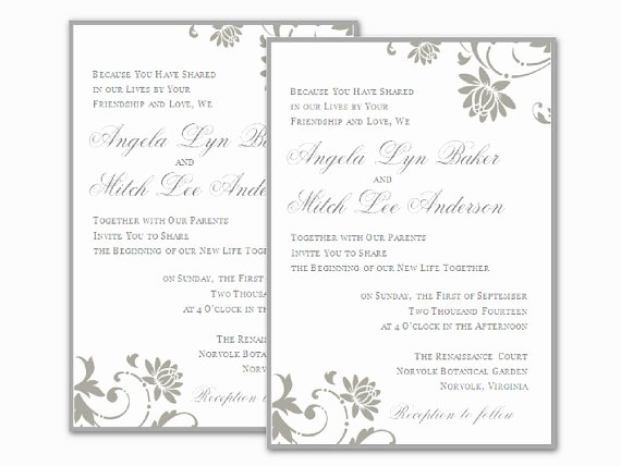 Ms Office Invitation Template Lovely Free Wedding Invitation Templates for Word