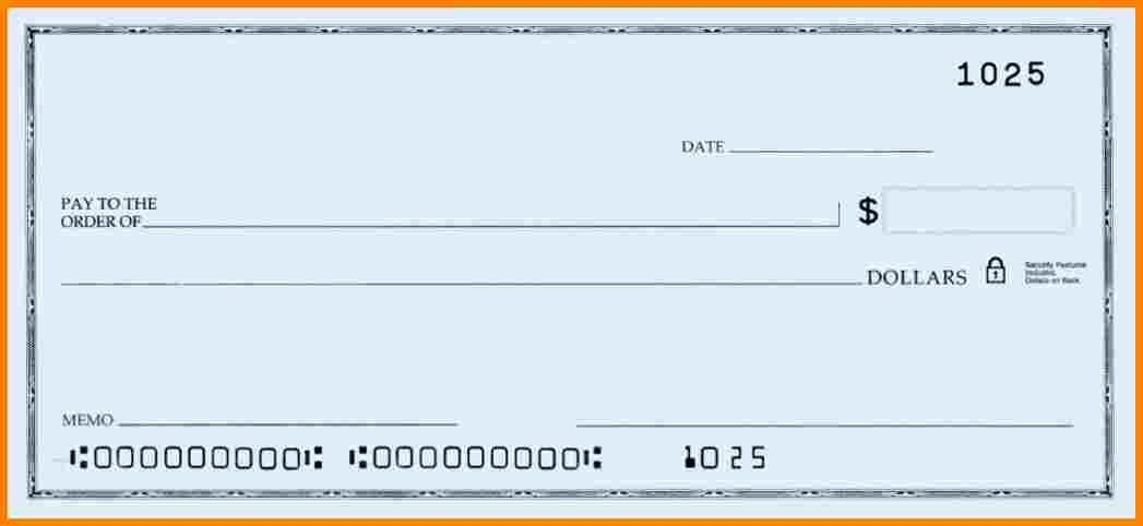 Ms Word Check Template Luxury Blank Check Template Word – Free Download
