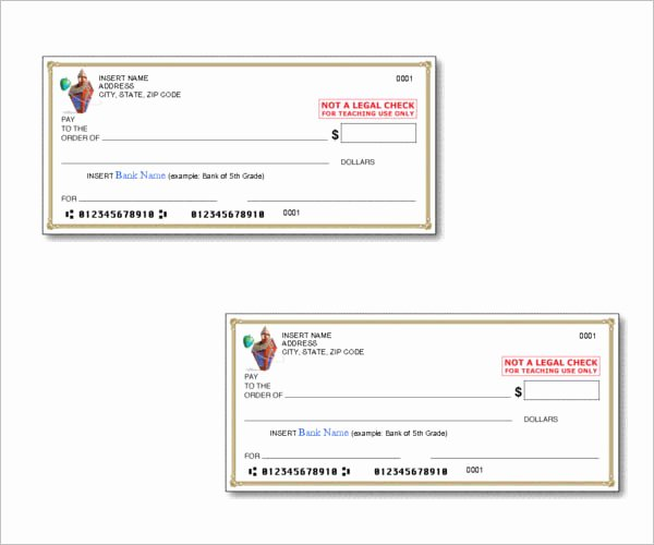 Ms Word Check Template Unique 43 Cheque Templates Free Word Excel Psd Pdf formats