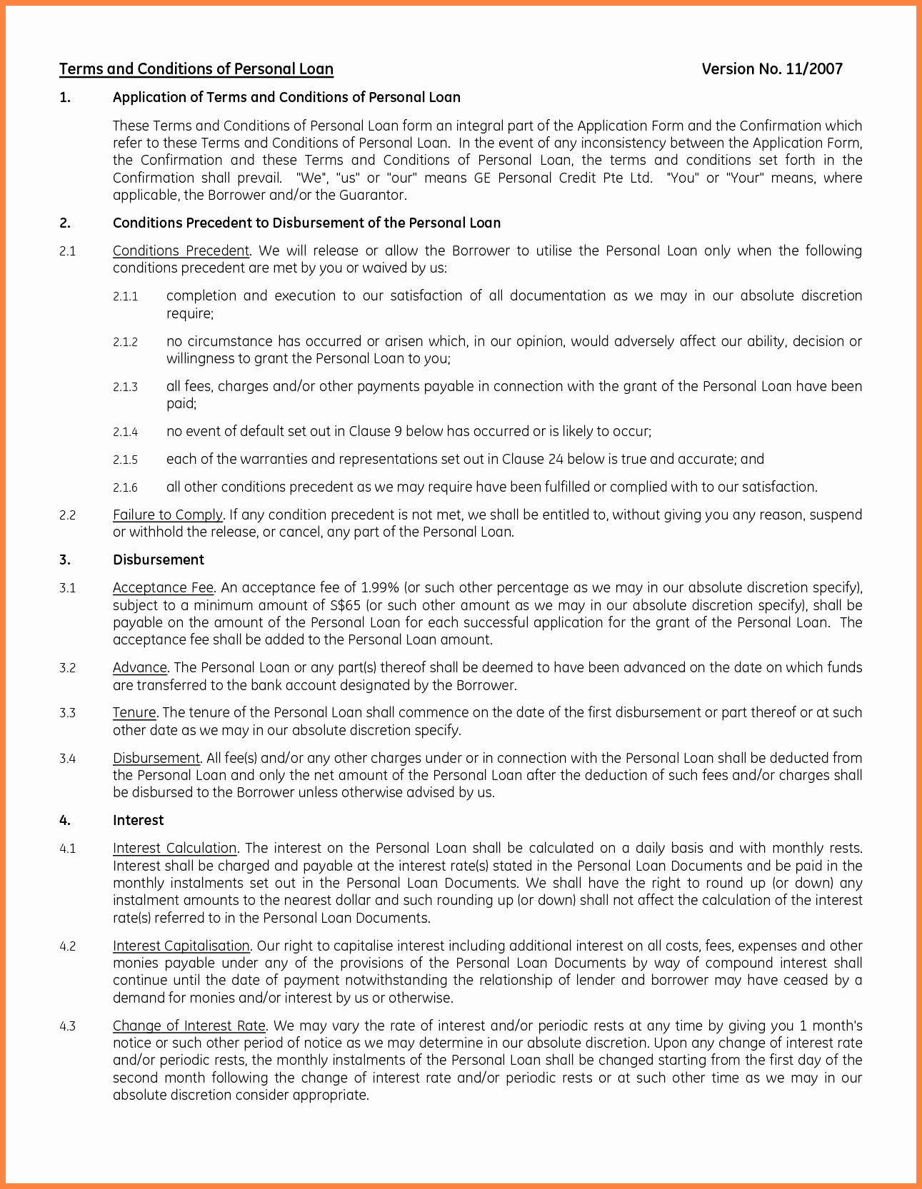 Ms Word Contract Template Awesome 8 Personal Loan Agreement Template Microsoft Word