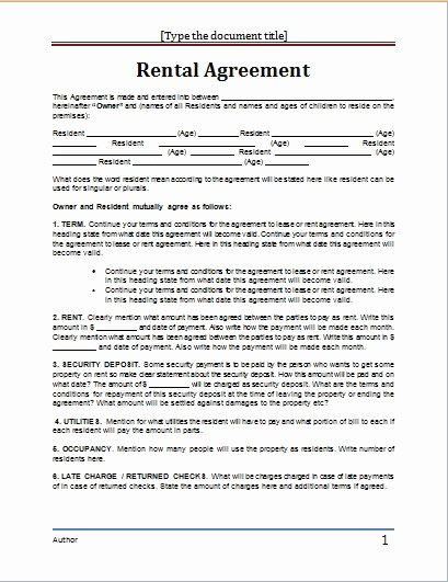 Ms Word Contract Template Best Of Lease Agreement Template Word Beepmunk