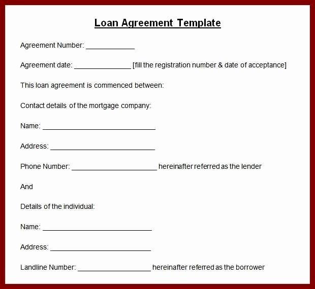 Ms Word Contract Template Fresh Microsoft Word Loan Contract Template Marutayafo