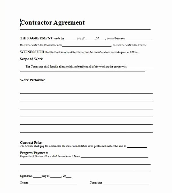 Ms Word Contract Template Lovely Contract Agreement Template Microsoft Word Templates
