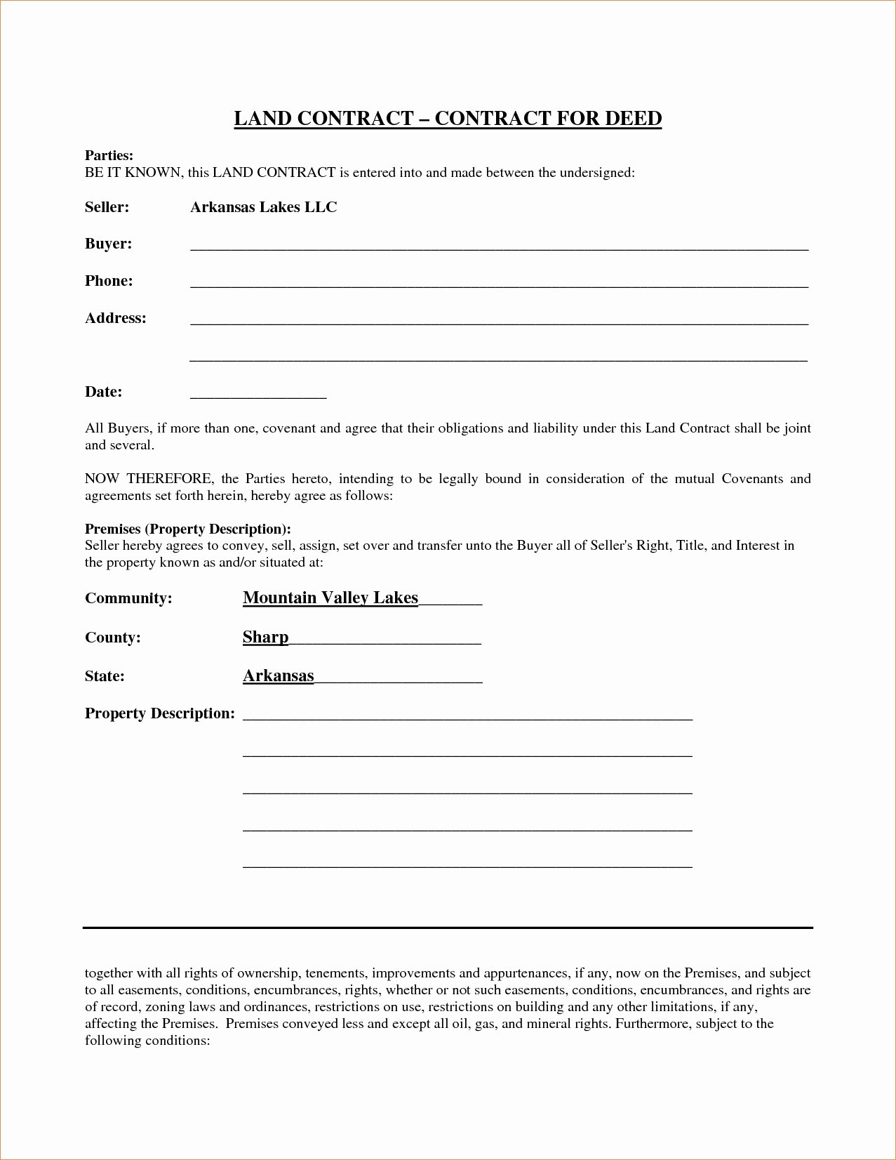 Ms Word Contract Template Unique Free Contract for Deed Template Beepmunk