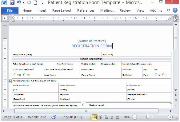 Ms Word form Template Beautiful Medical form Templates Microsoft Word – Templates Free