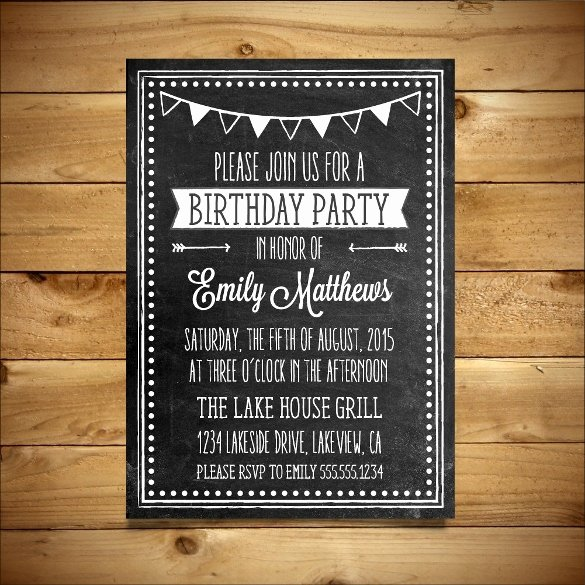Ms Word Invitation Template Awesome 18 Ms Word format Birthday Templates Free Download