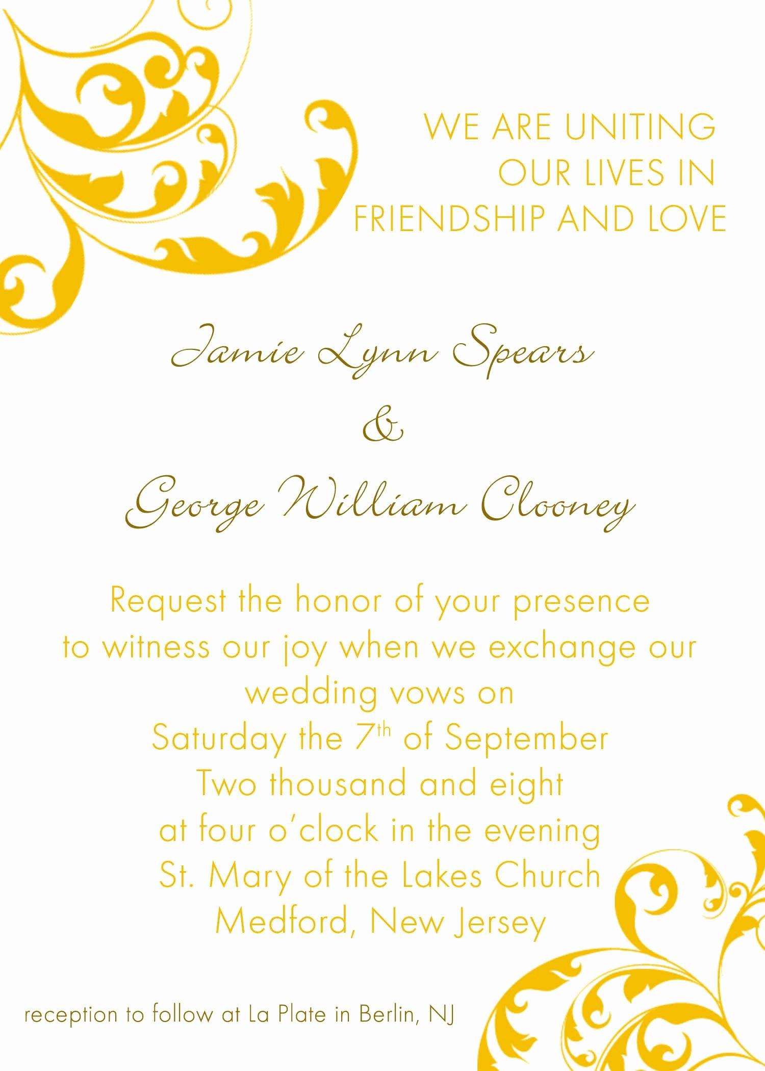 Ms Word Invitation Template Awesome Invitation Word Templates Free Wedding Invitation