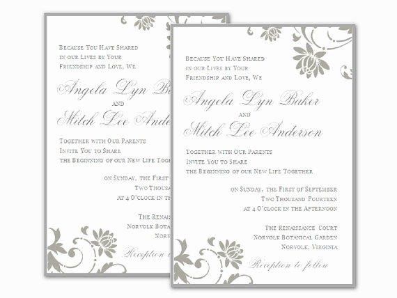 Ms Word Invitation Template Elegant Free Wedding Invitation Templates for Word
