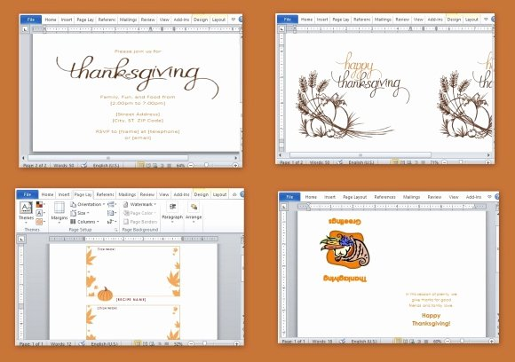 Ms Word Invitation Template Fresh Best Thanksgiving Templates for Microsoft Word