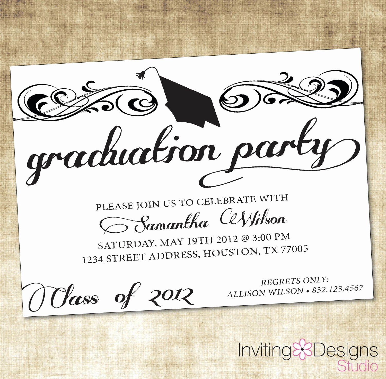 Ms Word Invitation Template Luxury Free Graduation Invitation Templates Free Graduation