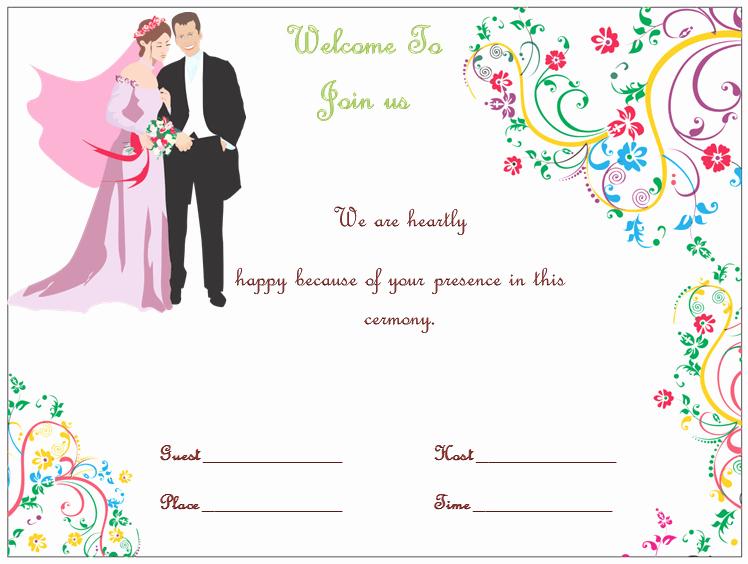Ms Word Invitation Template Luxury Wedding Invitation Template S Simple and Elegant