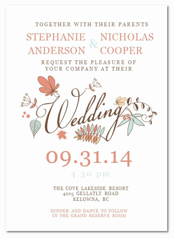 Ms Word Invitation Template New Wedding Invitation Wording Diy Wedding Invitation