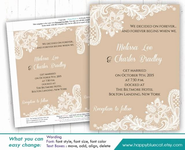 Ms Word Invitation Template Unique Diy Printable Wedding Invitation Template Instant