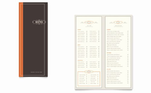 Ms Word Menu Template Awesome 8 5x11 A4 Menu Templates Word & Publisher Templates