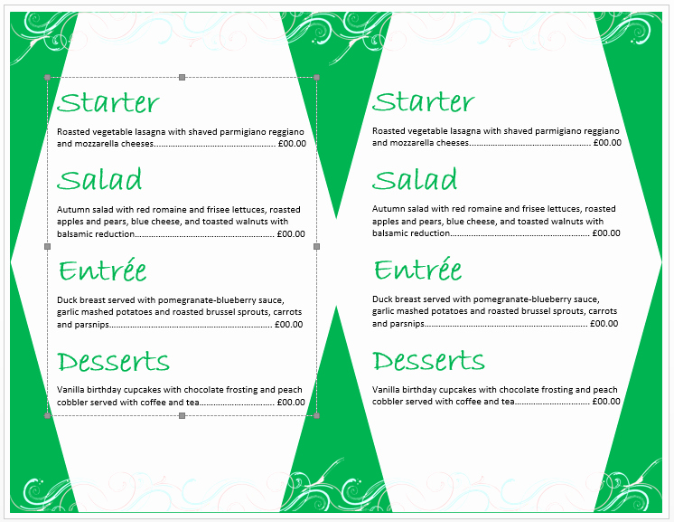 Ms Word Menu Template Elegant Birthday Party Menu Template – Microsoft Word Templates