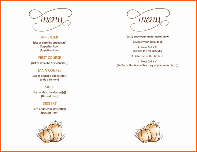Ms Word Menu Template Luxury 7 Menu Templates for Microsoft Word Bookletemplate