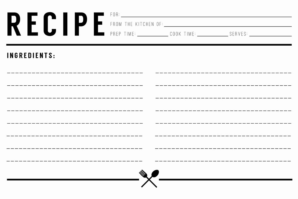Ms Word Recipe Template Beautiful 13 Recipe Card Templates Excel Pdf formats