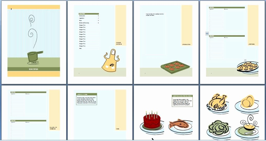 Ms Word Recipe Template Beautiful Printable Cookbook Template for Word