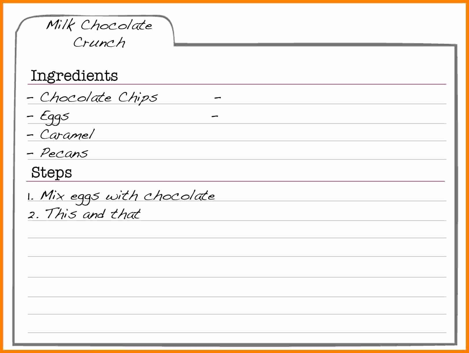 Ms Word Recipe Template Inspirational Free Editable Recipe Templates In Word