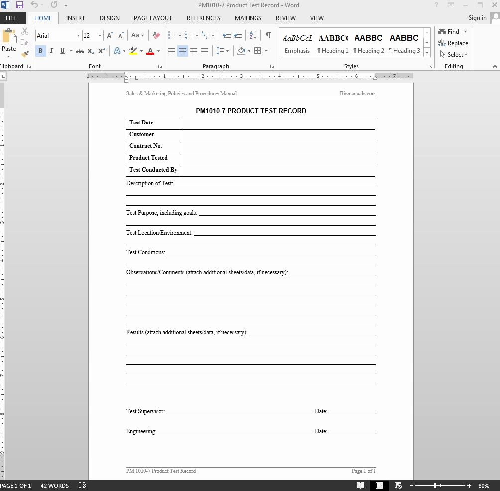 Ms Word Test Template Inspirational Microsoft Word Test Procedure Template Lloaddbusters